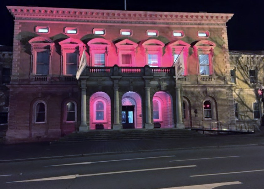 Hobart has been lit up this week for Dark MOFO. Photo by Ally Clark 2015