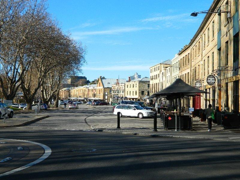 Salamanca Place on a weekday