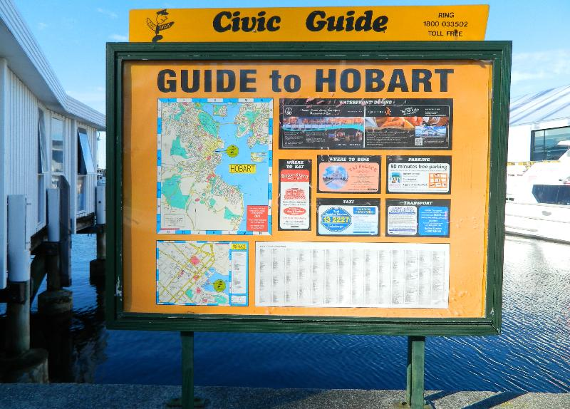 An old style map of the Hobart area