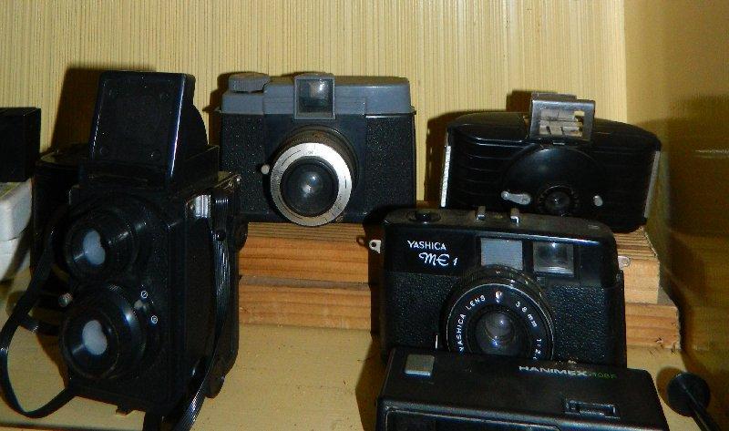 Cameras on display.