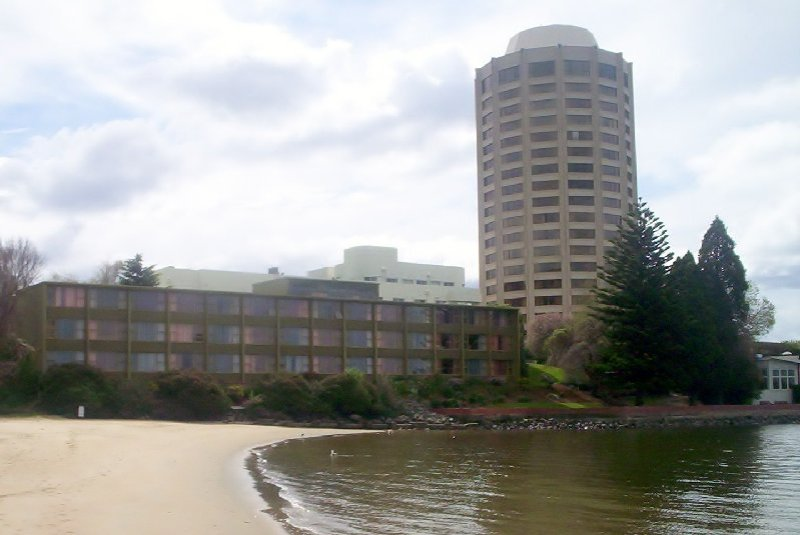 Wrest Point, Australia's first casino and the tallest building in the Hobart area.