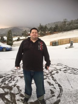Matt -Hobart snow day 2015-Photo Ally Clark