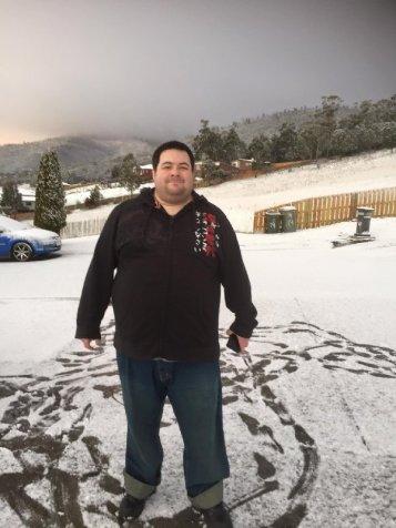 Matt -Hobart snow day 2015-Photo Ally Clark