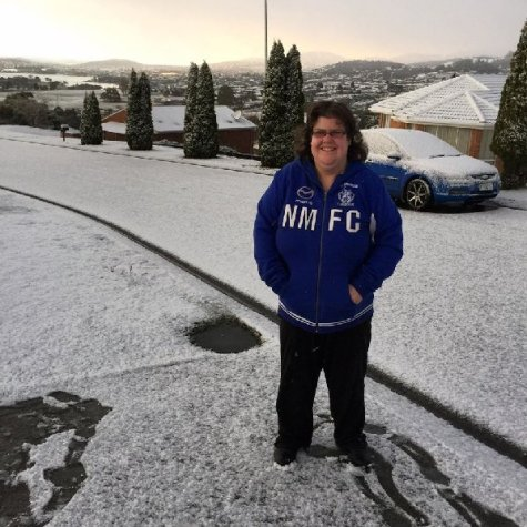Ally enjoying the snow - Photo by Matt Clark
