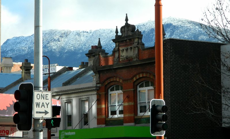 Mount Wellington taken from the corner of Argyle and Liverpool streets Hobart 6/8/2015