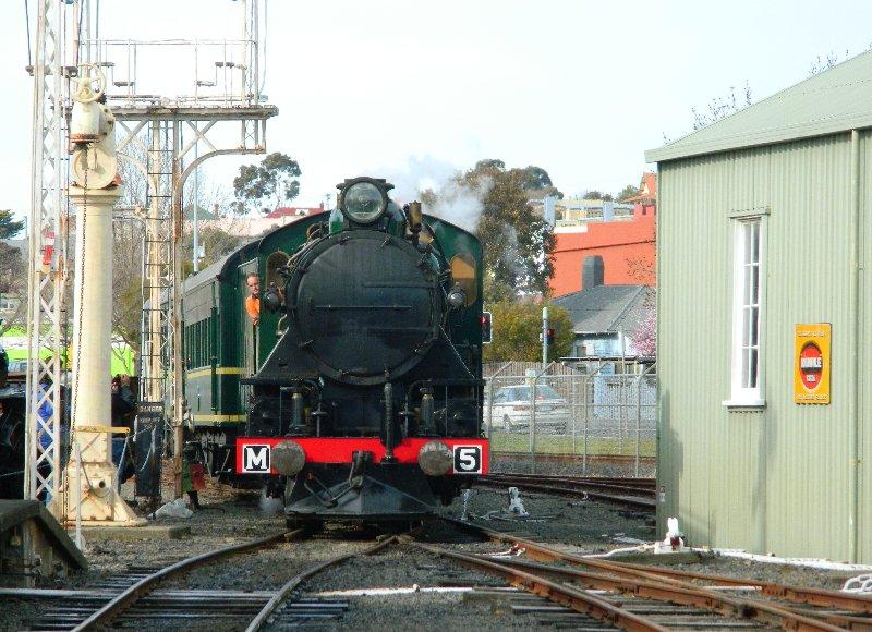 Tasmanian Government Railways locomotive M5 at the Tasmanian Transport Museum - 9 August 2015