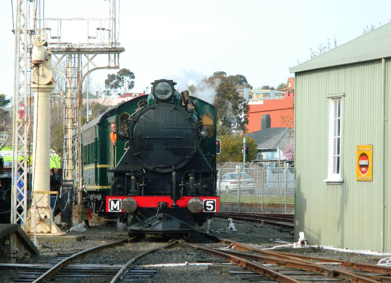 Tasmanian Government Railways locomotive M5 at the Tasmanian Transport Museum - 9 August 2015