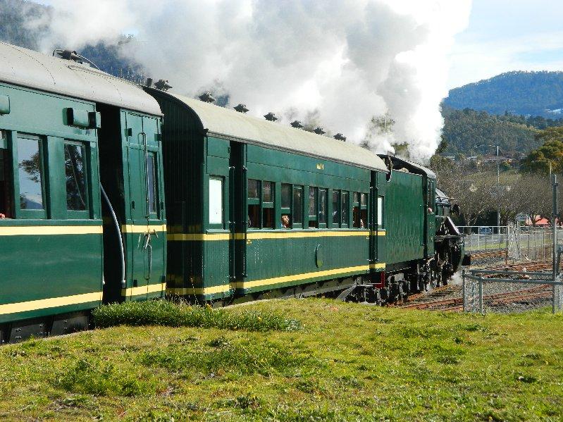 M Class steam locomotive and train. Tasmanian Transport Museum.