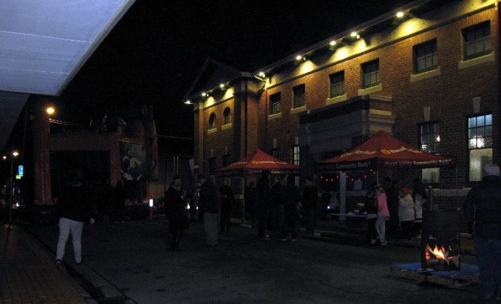 Church Street Geeveston at night winter 2015