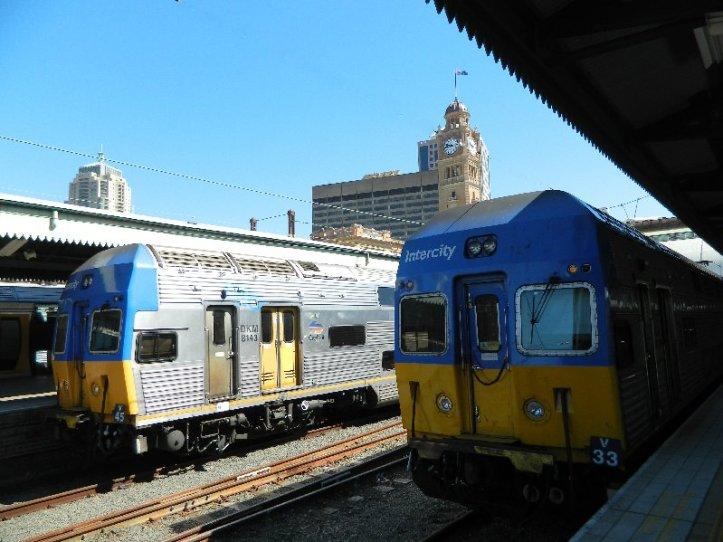 Sydney Interurban railcar set -December 2012.