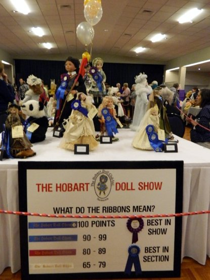 Dolls in the porcelain doll competition