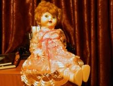 Marilyn my Pedigree Walker in a new dress.