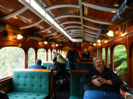 David on the West Coast Wilderness Railway in 2012.