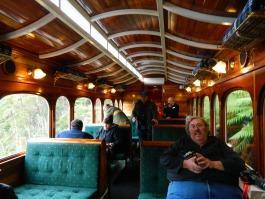 David on the West Coast Wilderness Railway in 2012.