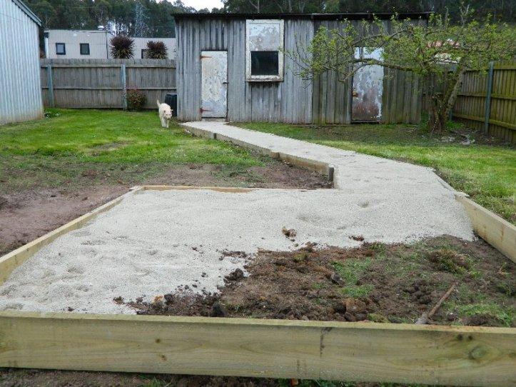 The limestone dust path.