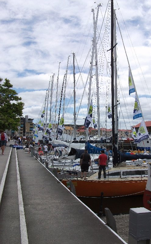 Racing yachts at Constitution Dock, Hobart