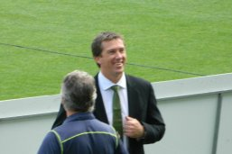 Glenn McGrath worked on the commentary team in 2012.