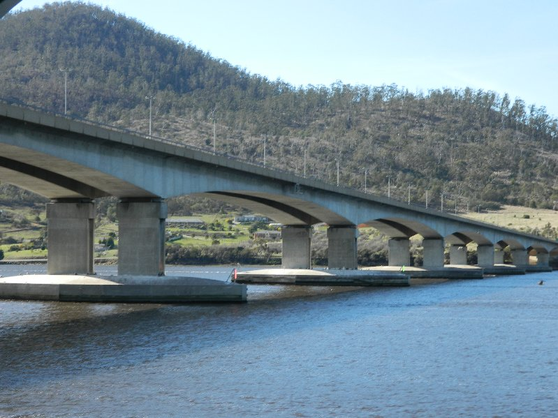 Hobart's third bridge, the Bowen Bridge.
