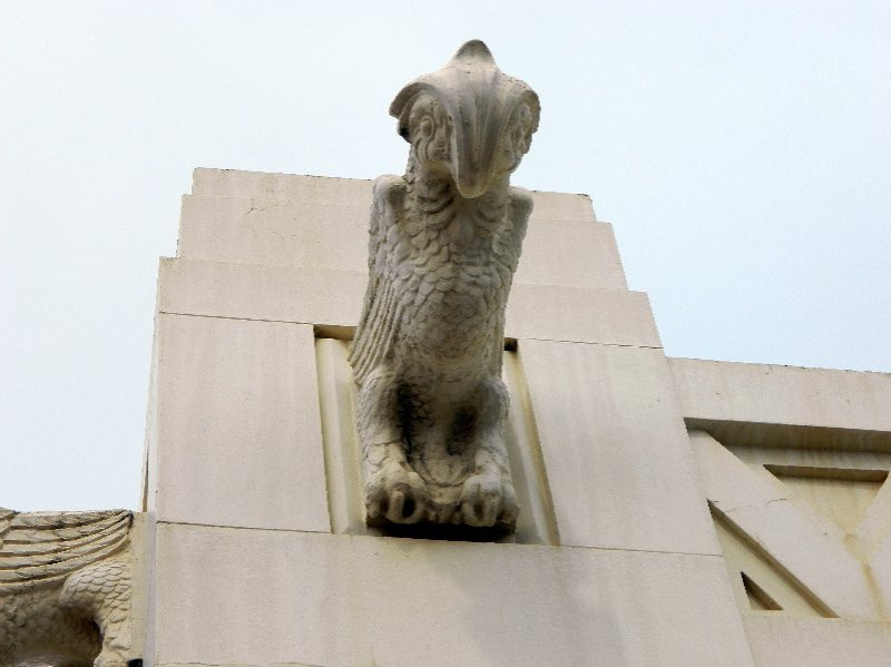 Here is another gargoyle. I have no idea why a building from this period would have gargoyles.