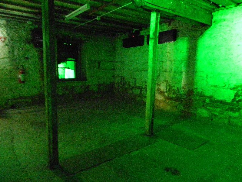 Eery lighting in the underground rooms.