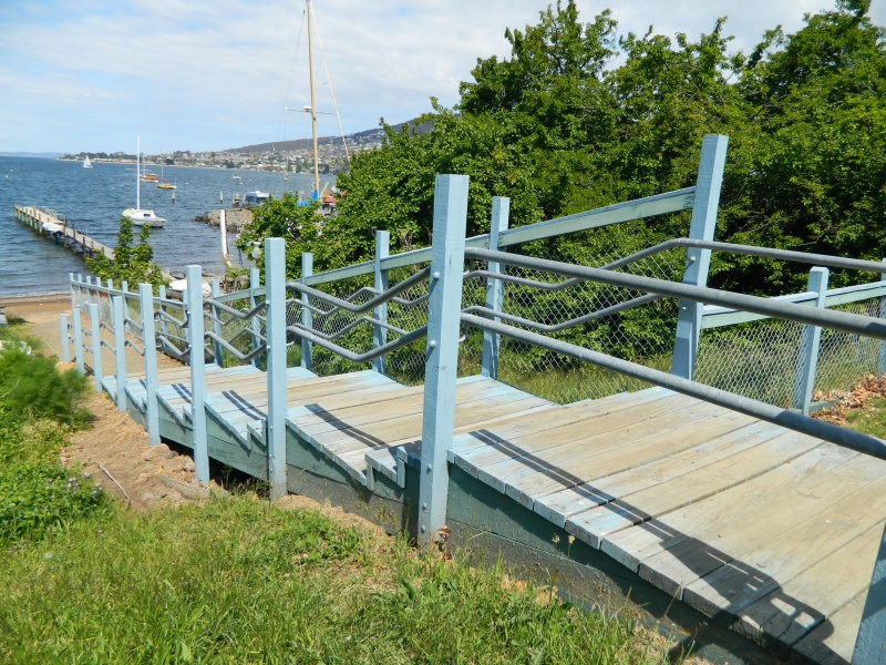 Stairs to the beach, Battery Point Hobart.