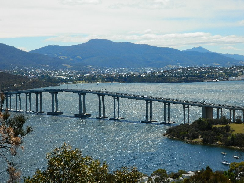 The Tasman Bridge from Rosny Hill Lookout
