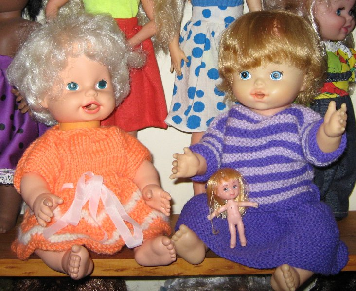"The same photo cropped to feature my two ""Baby Alive"" dolls."