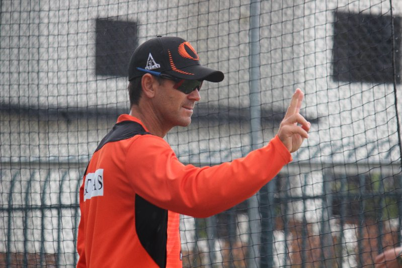 Former cricketer and now coach of WA and the Scorchers, Justin Langer at Bellerive in 2013 - Photo by Allyson Clark
