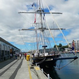 Sail training ship Young Endeavour visiting Hobart.