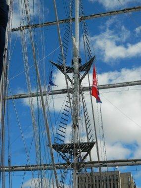 Tall ship mast.