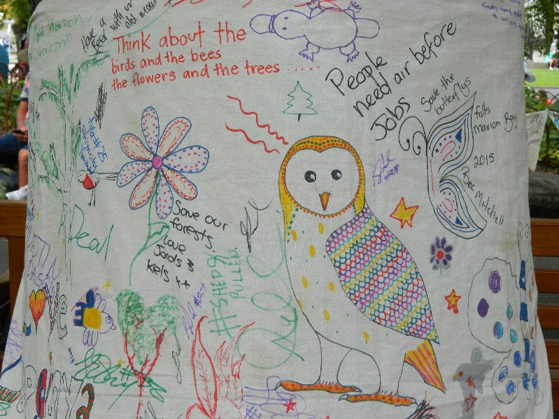 forest protest banner