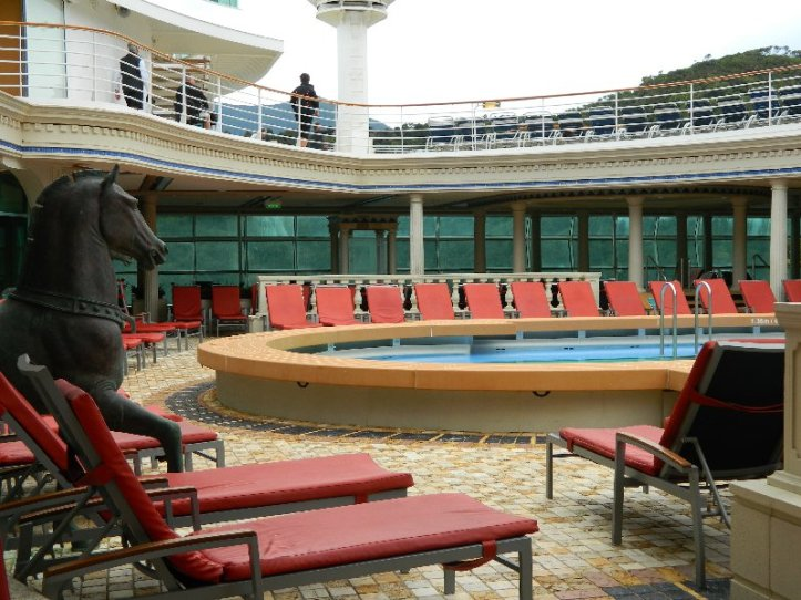 Explorer of the Seas The Solarium during the day.
