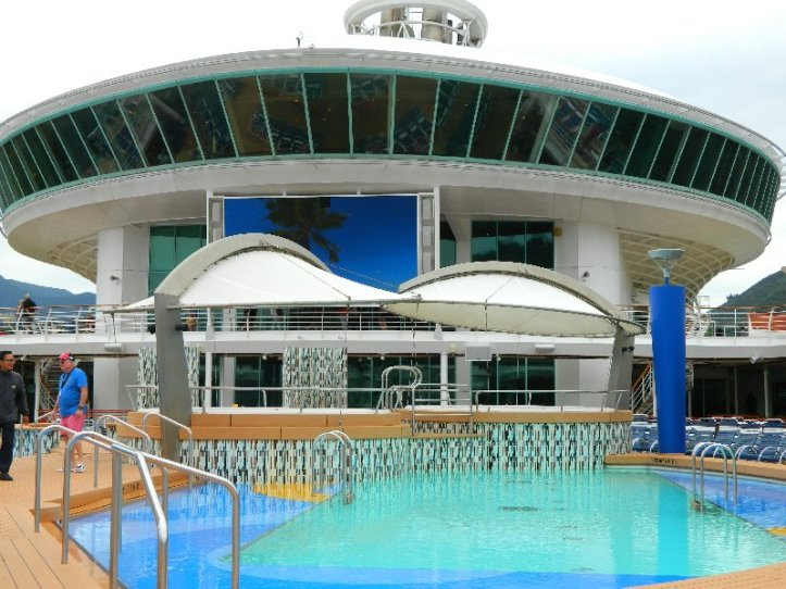 Explorer of the Seas. The main pool area.
