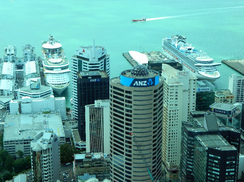 Explorer of the Seas and Diamond Princess in Auckland, New Zealand.