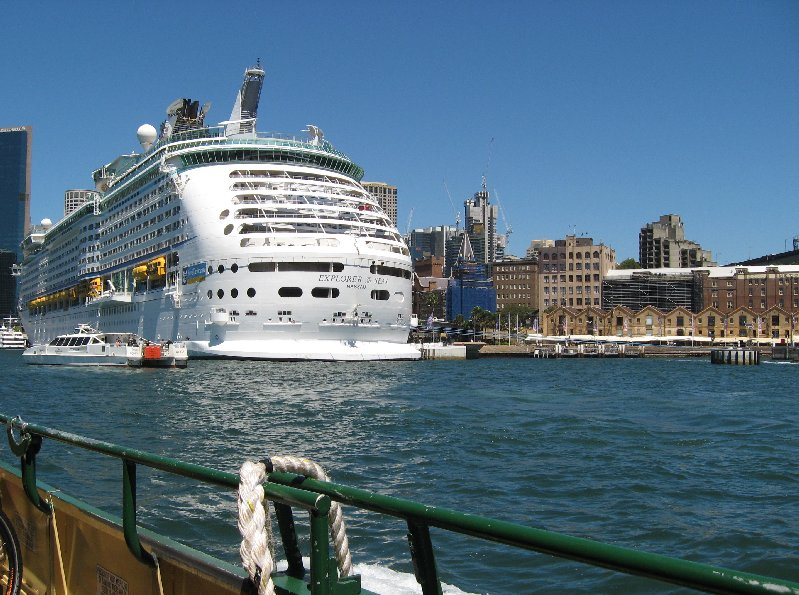 Explorer of the Seas from the water.