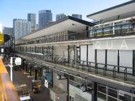 The Overseas Passenger Terminal in Sydney from the deck.
