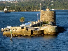 Fort Denison, a small isliand in Sydney Harbour.