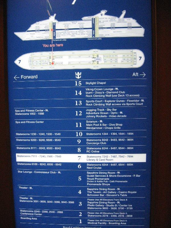 Deck plan Explorer of the Seass