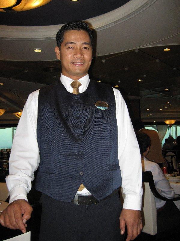 Assistant waiter Anthony.