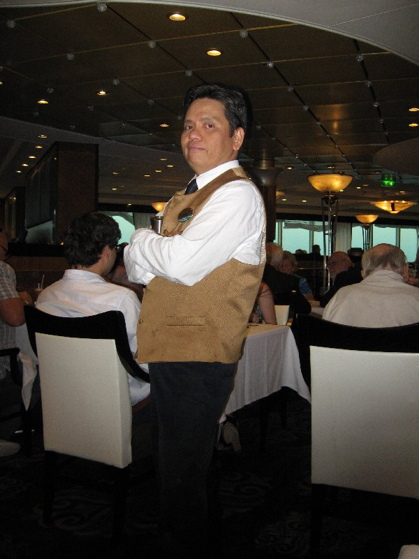 Pepito was our waiter in the Sapphire Dining Room