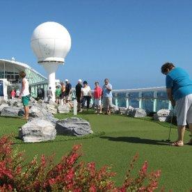 The mini golf course.