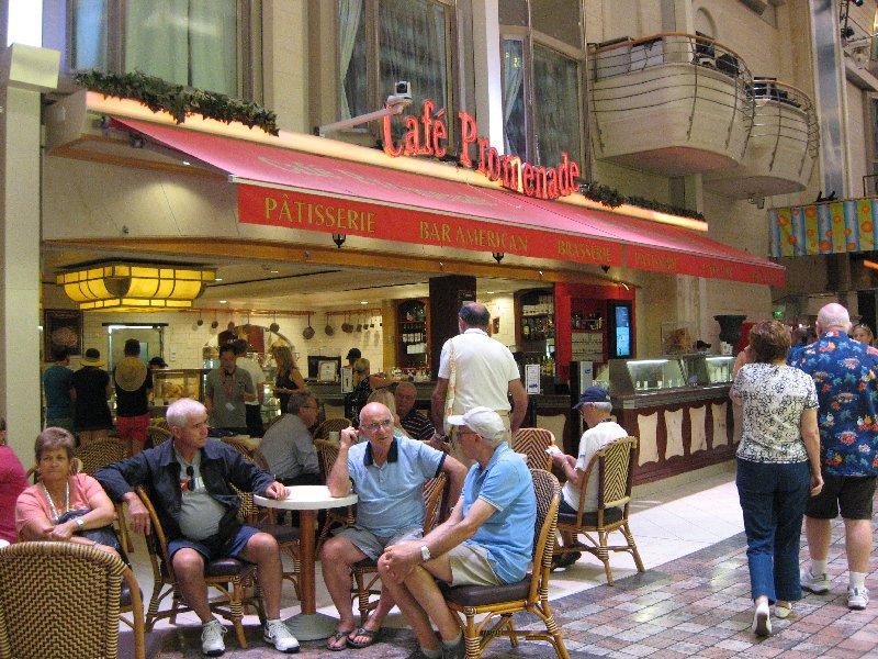The Cafe Promenade - Explorer of the Seas