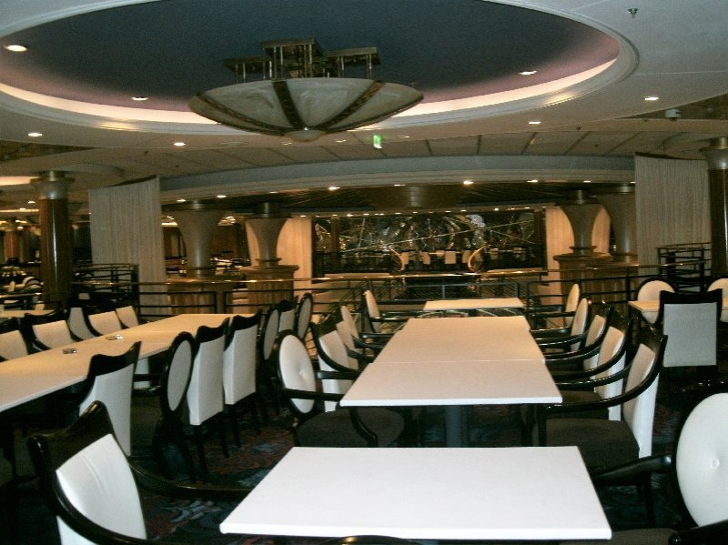 The Sapphire Dining Room during the day. It is sometimes used for other activities.