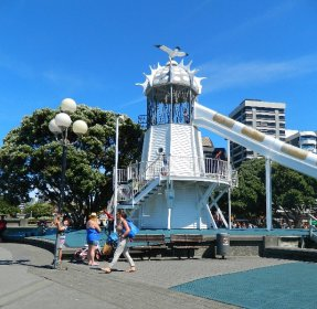 wooden slide, Wellington