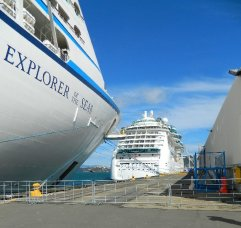 Explorer of the Seas and Radiance of the Seas in Wellington together.