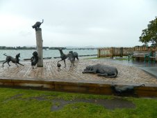 Hairy Maclary sculpture at Tauranga.