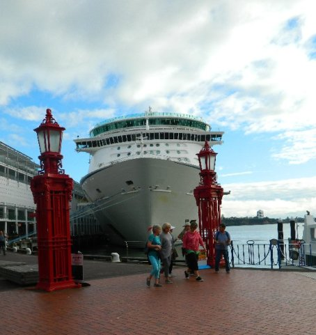 It was nice to be able to walk straight off the ship and into the city centre.