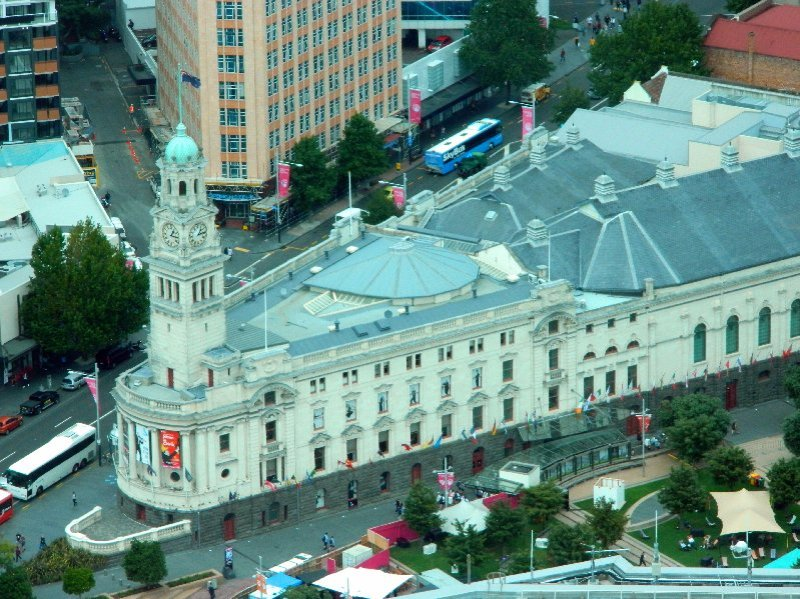 Auckland Town Hall from above.