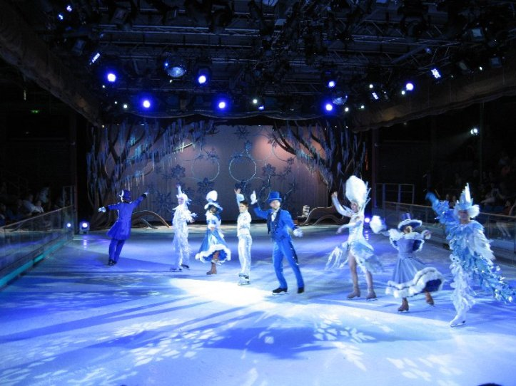 ice show depicintg winter