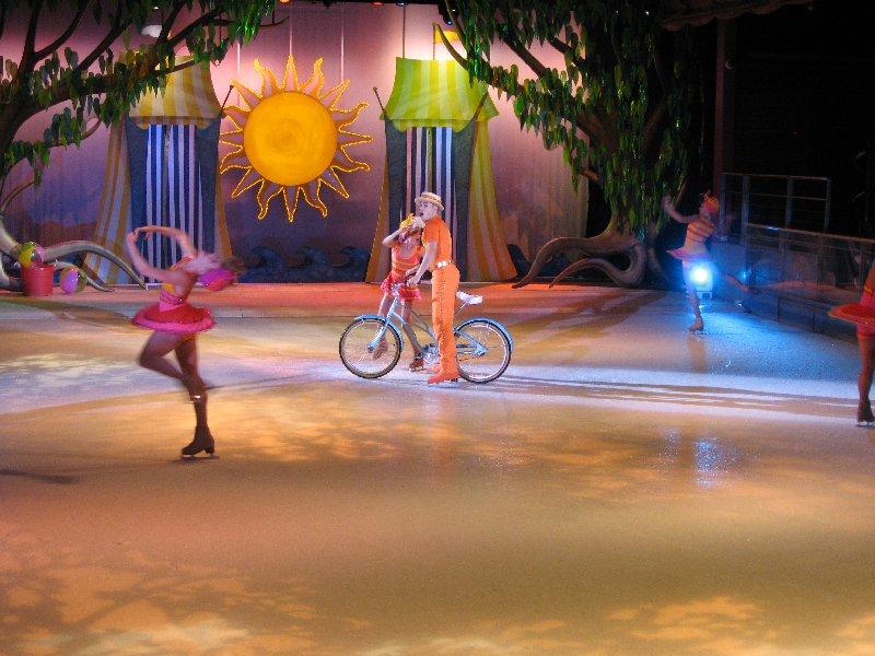 ice show depicintg summer